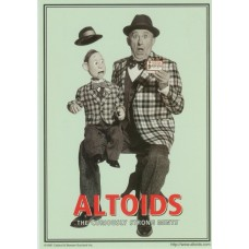 Postcard - Altoids Mints - Ventriloquist with Dummy