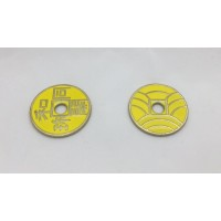 Ancient Japanese Coin - Dollar Size - YELLOW