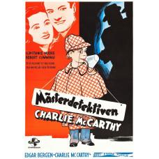 Charlie McCarthy Detective - Swedish Movie Poster