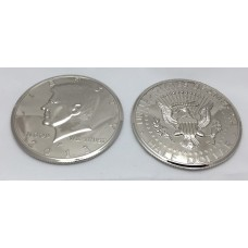 Kennedy Half Dollar - Three Inch - Chromed - Deluxe