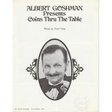 Albert Goshman - Coins Thru the Table Manuscript
