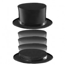 Top Hat -- Collapsible - Black
