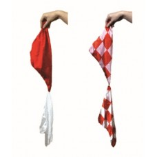 Color Changing Silks - Red Checkerboard