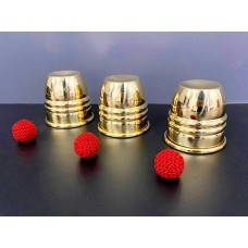 Cups & Balls - Prestige Series - Brass