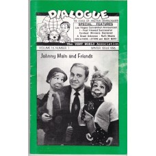 Dialogue Magazine Volume 16 Number 1 - Johnny Main Cover