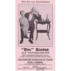 Doc George Boyce Ventriloquist Promotional Ink Blotter