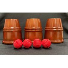 Cups & Balls - Teak Wood Dragon Cups