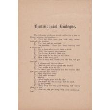 Ventriloquial Dialogue - Published by Ellisdon & Son circa 1908