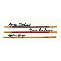 Magic Wand - African Wenge Wood with Brass Tips