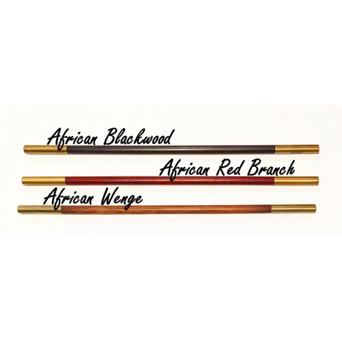 Magic Wand African Red Branch Wood With Brass Tips