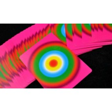 Fanning and Manipulation Deck - Hot Pink Rainbow Ring Design