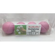 Multiplying Billiard Balls - PINK Featherlite