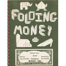 Folding Money Volume Two - Book by Sam Randlett