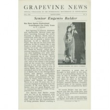 Grapevine News Magazine Volume 8 Number 2 - Senor Eugenio Balder Cover