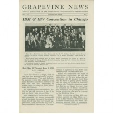 Grapevine News Magazine Volume 8 Number 3 - IBM and IBV Chicago Convention Cover