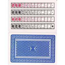 Jumbo 52-on-1 Card - Blue back