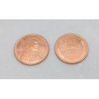 Jumbo Copper Wheat Penny (Dollar size)