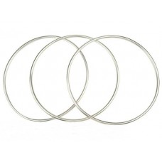 Chinese Linking Rings - Magnetic Key - Three Ring Set