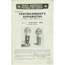 Max Andrews Catalogue of Ventriloquist's Apparatus