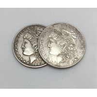 Morgan Dollar Replica Expanded Shell