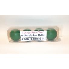 Multiplying Billiard Balls - GREEN Featherlite