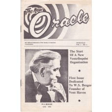 The New Oracle Magazine Volume 1 Number 1 - W. S. Berger Cover