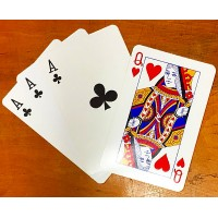 The Only Three Card Trick in the World Using Four Cards - Super JUMBO