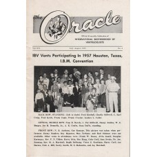 The Oracle Magazine Volume 16 Number 4 - 1957 Houston Texas Convention Cover