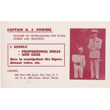 Postcard - Captain D J Powers