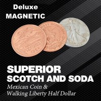 Scotch and Soda - Magnetic Locking Walking Liberty Half Dollar Set