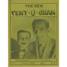 The New Vent-O-Gram Magazine Volume 1 Number 6 - Paul Stadelman Cover