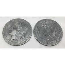 Jumbo Morgan Dollar - Three Inch