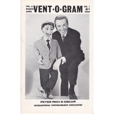 Vent-O-Gram Magazine Volume 6 Number 1 - Peter Rich Cover