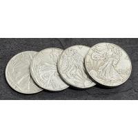 Walking Liberty Half Dollar Quad Coin