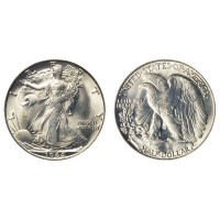 Walking Liberty Half Dollar Ghost Coin